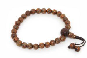Изящные буддийские четки-браслет из 27 бусин Дзи