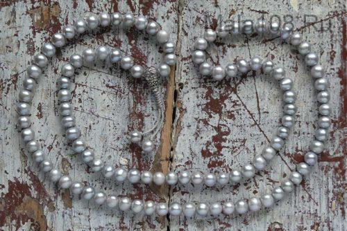 Буддийские четки из крупного жемчуга 108 бусин с серебряной гуру